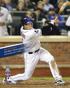 "David Wright ""1st HR at CITI"" (April 13, 2009) - Photofile 16x20"