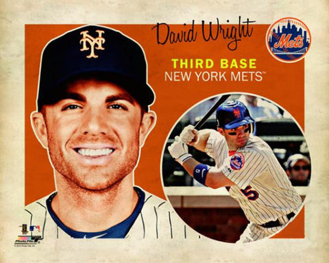 "David Wright ""Retro SuperCard"" New York Mets Premium Poster Print - Photofile 16x20"