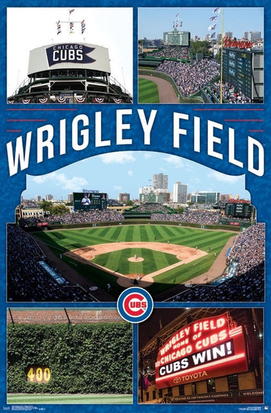 "Wrigley Field ""Celebration Wrigley"" Chicago Cubs Official MLB Stadium Poster - Trends International"