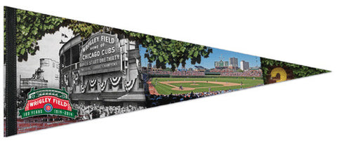 Wrigley Field 100th Anniversary (2014) Premium Felt Collector's Pennant - Wincraft