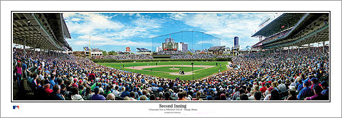 "Chicago Cubs Wrigley Field ""Second Inning"" Gameday Panoramic Poster Print - Everlasting Images"