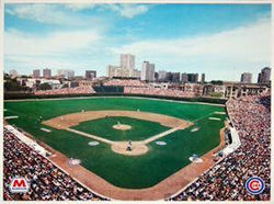 Wrigley Field Gameday 1983 Poster - Marathon Oil 16x20