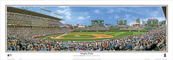 Chicago Cubs Wrigley Field Gameday Afternoon Panoramic Poster - Everlasting Images 2015