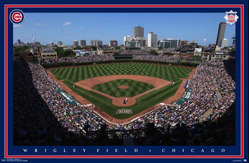 Wrigley Field Gameday Chicago Cubs Official MLB Stadium Poster - Trends International