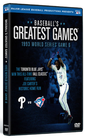 DVD: World Series 1993 Game 6 Original CBS Broadcast (Toronto Blue Jays 8, Phillies 6)