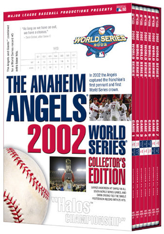 DVD SET: Anaheim Angels 2002 World Series Complete (All 7 Original Broadcasts)