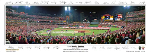 World Series 2011 St. Louis Cardinals Panoramic Print (w/28 Sigs) - Everlasting