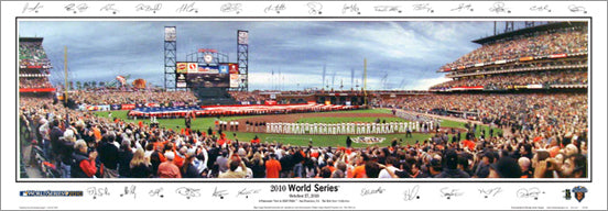 San Francisco Giants World Series 2010 Panoramic Poster Print w/26 Sigs. - Everlasting