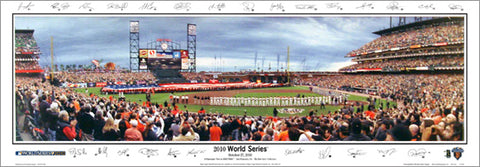 San Francisco Giants World Series 2010 Panoramic Poster Print w/26 Facs. Signatures - Everlasting