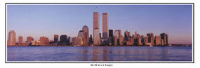 "Lower Manhattan Skyline ""We'll Never Forget"" World Trade Center Panoramic Poster - Everlasting Images 2001"