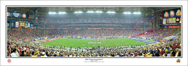 West Virginia Mountaineers 2008 Fiesta Bowl Champs (vs. Oklahoma) Panoramic Poster - Everlasting