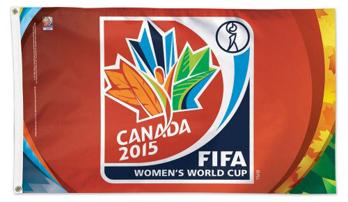 FIFA Women's World Cup Soccer Canada 2015 Official Event Logo 3'x5' BANNER FLAG - Wincraft