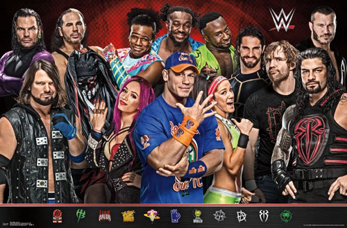 WWE Wrestling Superstars (14 Wrestlers) Poster - Trends International