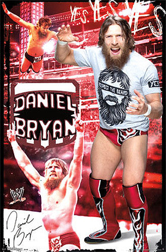 "Daniel Bryan ""YES YES YES!!"" WWE Wrestling Poster - Trends International"