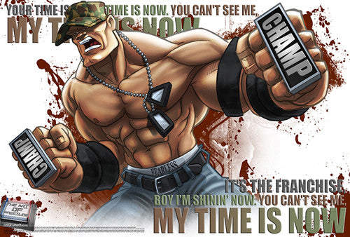 "John Cena ""My Time Is Now"" WWE Superhero Ultimate Theme Art Poster - Starz (#37)"