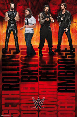 "WWE ""Four Champions"" Poster (Seth Rollins, Daniel Bryan, Roman Reigns, Dean Ambrose) - Trends"