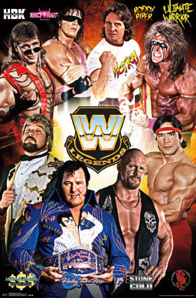 WWE Legends 8 All-Time Wrestling Superstars Poster - Trends 2016
