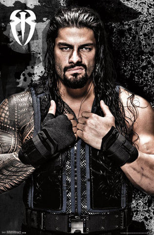 "Roman Reigns ""Attitude"" WWE Wrestling Official Poster - Trends International"