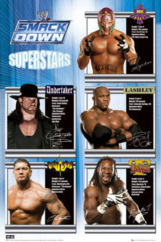 WWE Smackdown Supertars 2006 Poster (Batista, Mysterio, Booker T, Undertaker) - GB Eye