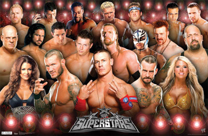 WWE Wrestling Superstars 2011 Poster (Cena, Michaels, Orton, Kelly ++) - Trends International