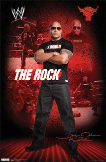 The Rock (Dwayne Johnson) WWE Poster - TIL 2011