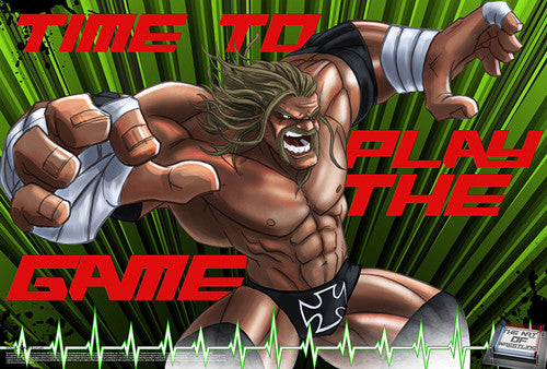 "Triple H ""Time To Play the Game"" WWE Superhero Ultimate Theme Art Poster - Starz (#39)"