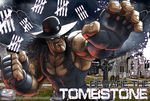 "Undertaker ""Beware the Tombstone"" WWE Superhero Ultimate Theme Art Poster - Starz"