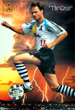 "Eric Wynalda ""The Great"" MLS San Jose Clash Poster - Costacos 1996"