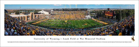 Wyoming Cowboys Football Stadium Gameday Panoramic Poster Print (2017) - Blakeway Worldwide