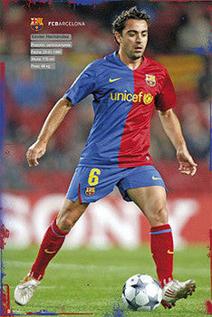 "Xavi Hernandez ""SuperAction"" FC Barcelona Poster - G.E. (Spain) 2010"