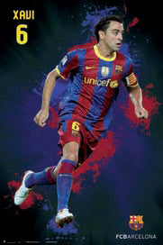 "Xavi Hernandez ""SuperAction"" FC Barcelona Poster - G.E. (Spain)"
