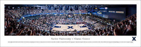 Xavier Musketeers Basketball Cintas Center Game Night Panoramic Poster Print - Blakeway Worldwide