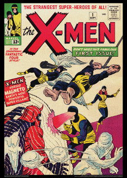 X-Men #1 (Sept. 1963) Vintage Marvel Comics Cover Poster Reprint
