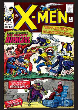 X-Men #9 (Enter The Avengers) Marvel Comics Official Cover Poster Print - Asgard Press