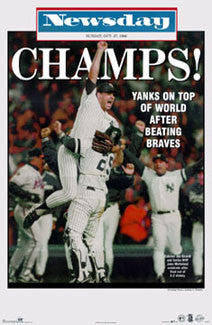 New York Yankees 1996 World Series Champions Poster (Newsday Front Page) - OSP Publishing