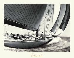 "Vintage Yacht Racing ""Ranger"" (1937) Sepia Poster Print"