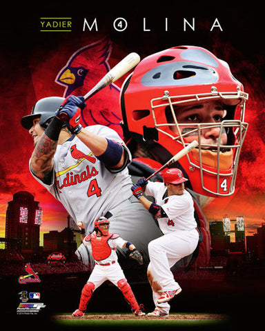 "Yadier Molina ""Superstar"" St. Louis Cardinals Premium Poster Print - Photofile 16x20"