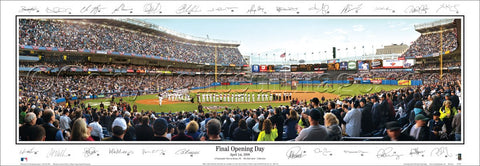 "Yankee Stadium ""Final Opening Day"" (4/1/2008) Panoramic Poster Print w/26 Facs. Signatures - Everlasting Images (NY-233)"