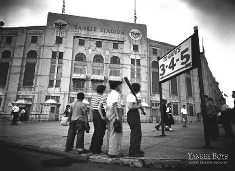 "Yankee Stadium 1948 ""Yankee Boys"" Classic Black-and-White Baseball Poster - Image Source"