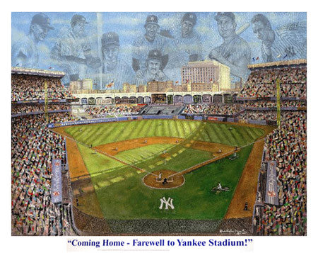 """Coming Home - Farewell To Yankee Stadium"" (2008) - by Robert Stephen Simon"
