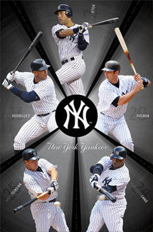 "New York Yankees ""Power Five"" (2011) Poster - Costacos Sports"