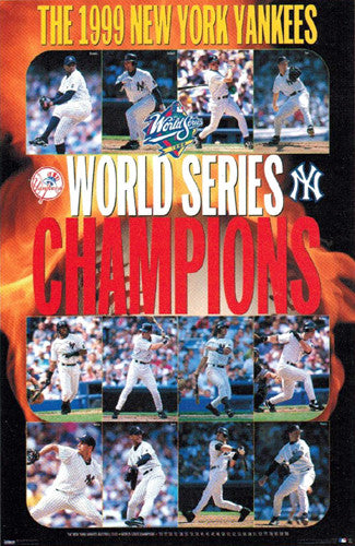 New York Yankees 1999 World Series Champs Commemorative Poster - Costacos Sports