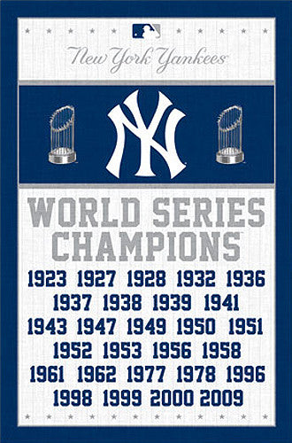 New York Yankees 27-Time World Series Champions Commemorative Poster - Trends International