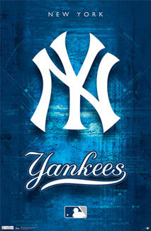 New York Yankees Official MLB Baseball Team Logo Poster - Costacos Sports