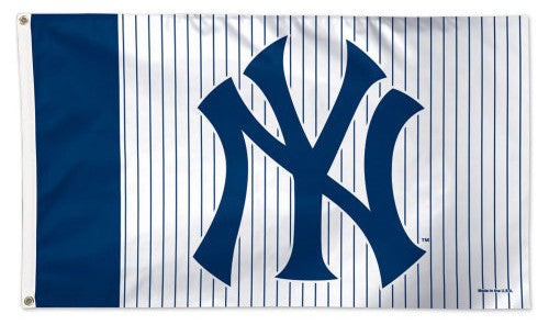 "New York Yankees ""Pinstripes-NY"" Official MLB Baseball Deluxe-Edition 3'x5' Flag - Wincraft Inc"