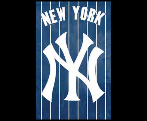 "New York Yankees ""NY Pinstripes"" Official MLB Baseball Premium Banner - Party Animal"