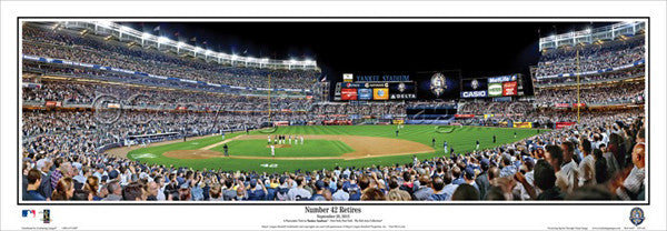 "New York Yankees ""Number 42 Retires"" (Mariano Rivera 2013) Panoramic Poster Print - Everlasting"