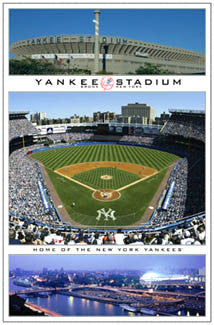 New York Yankees Old Yankee Stadium Tribute Poster - Costacos Sports