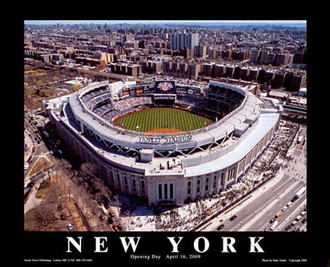 "New Yankee Stadium Opening Day 2009 ""From Above"" Poster - Aerial Views"