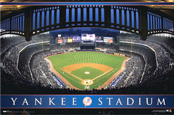 New York Yankees Yankee Stadium Game Night Poster - Costacos Sports